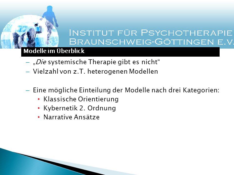 """""""Die systemische Therapie gibt es nicht"""