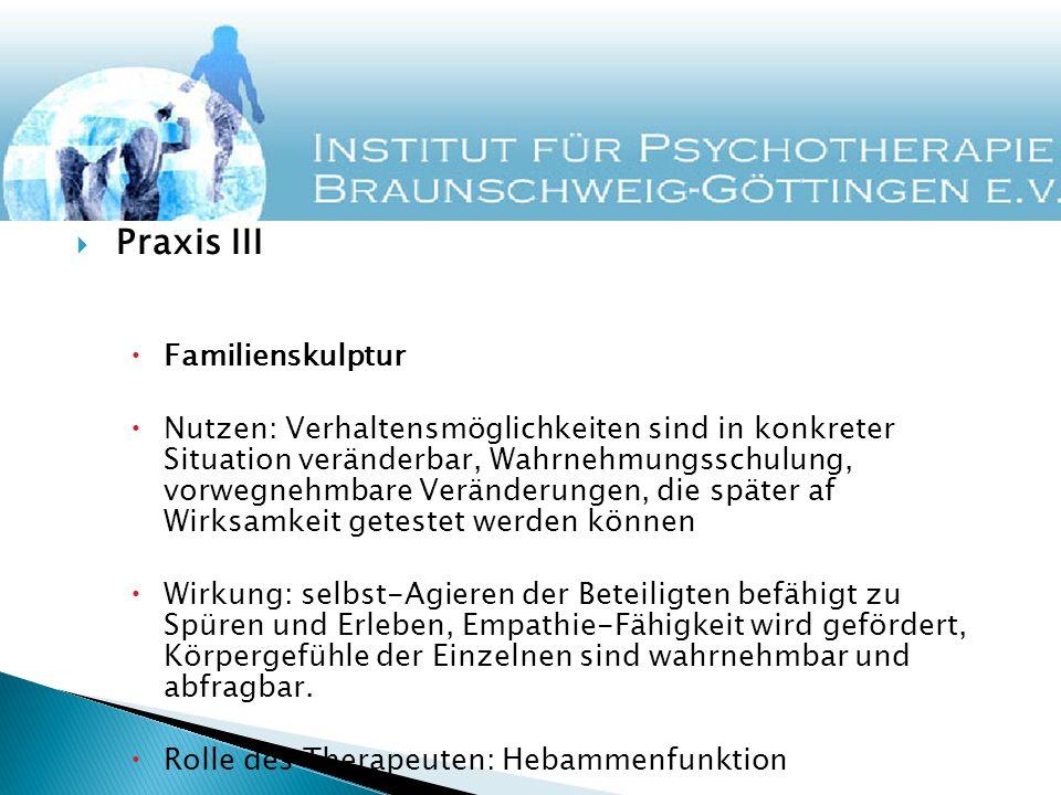Praxis III Familienskulptur