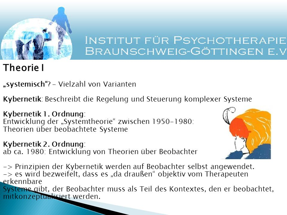 """Theorie I """"systemisch - Vielzahl von Varianten"""