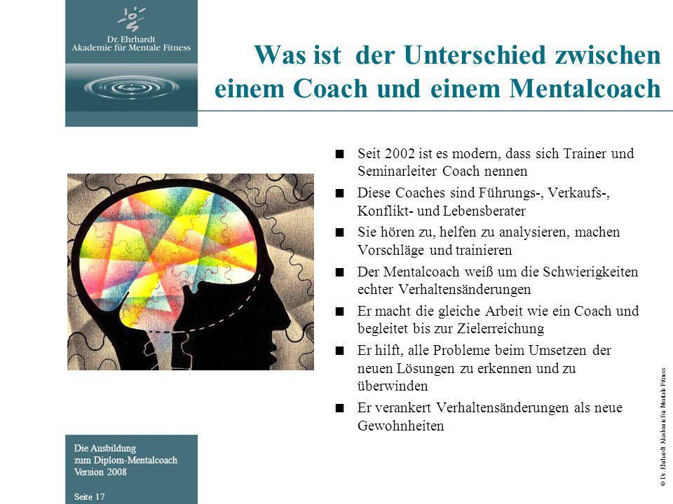 Was ist der Unterschied zwischen einem Coach und einem Mentalcoach