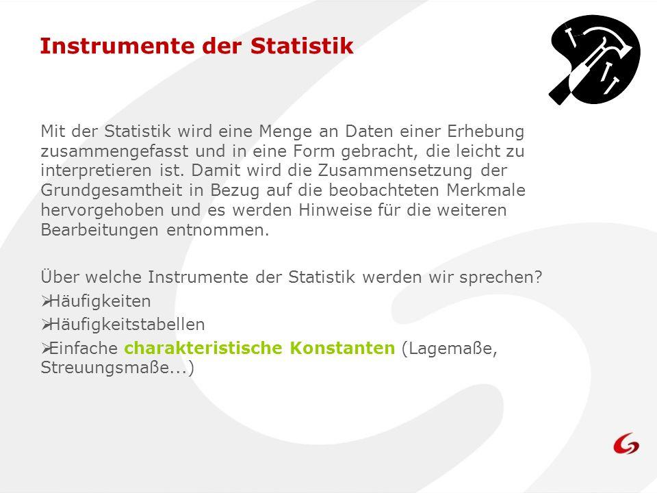Instrumente der Statistik