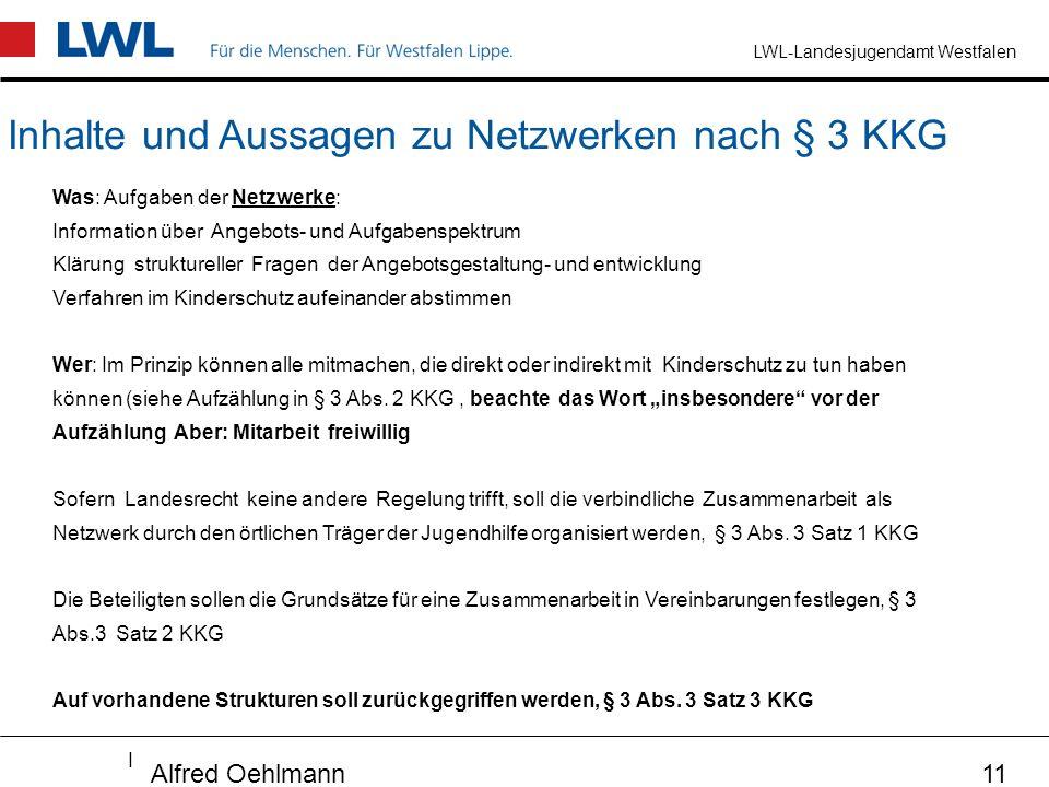 Inhalte und Aussagen zu Netzwerken nach § 3 KKG