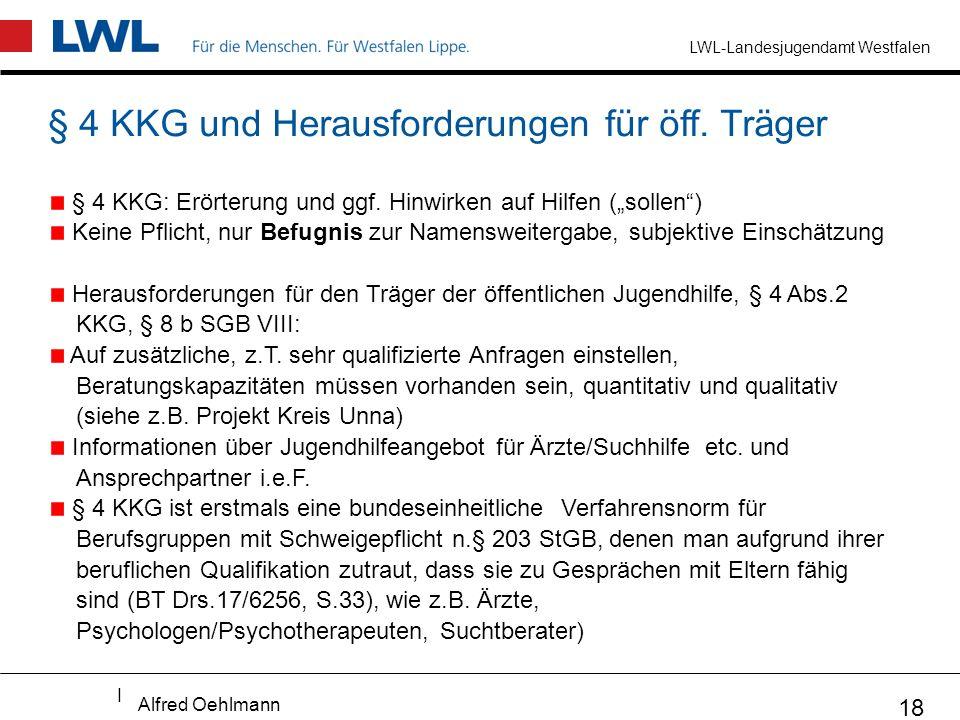 § 4 KKG und Herausforderungen für öff. Träger