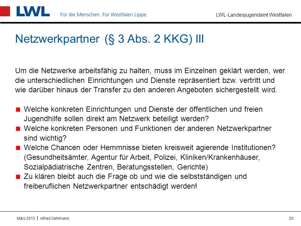Netzwerkpartner (§ 3 Abs. 2 KKG) III