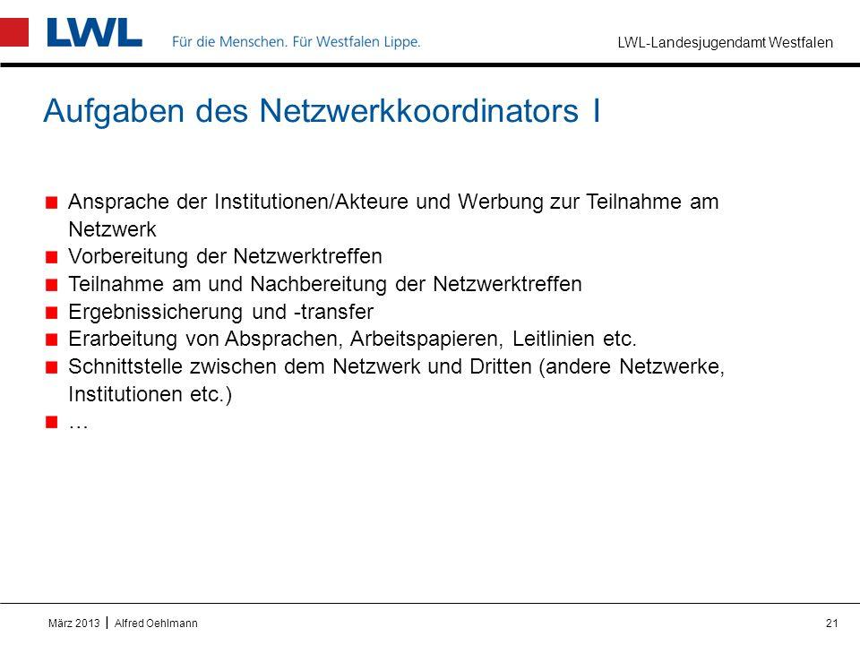 Aufgaben des Netzwerkkoordinators I