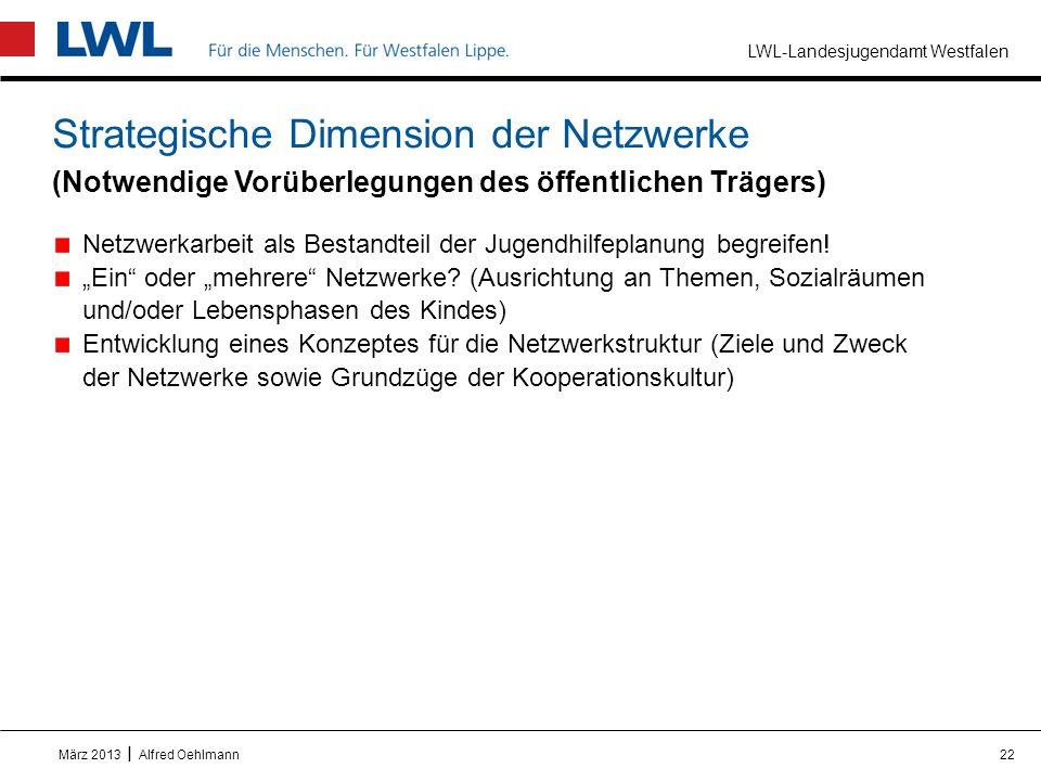 Strategische Dimension der Netzwerke (Notwendige Vorüberlegungen des öffentlichen Trägers)