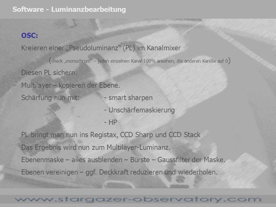 Software - Luminanzbearbeitung