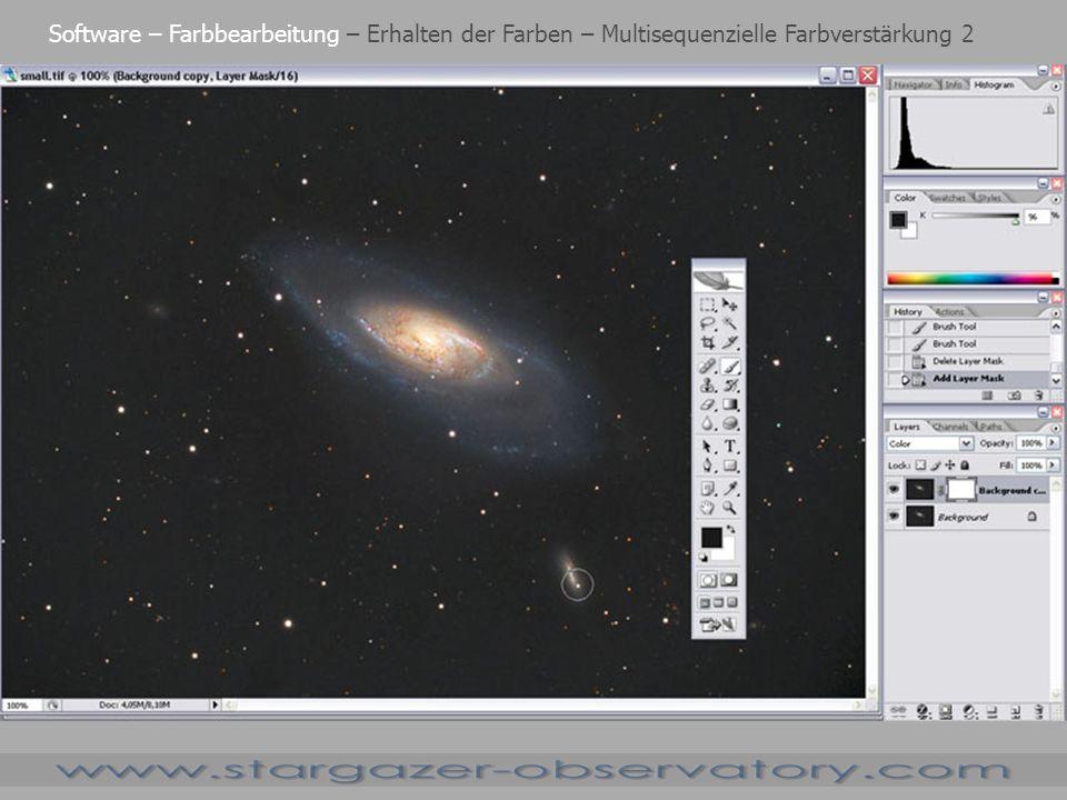 Software – Farbbearbeitung – Erhalten der Farben – Multisequenzielle Farbverstärkung 2