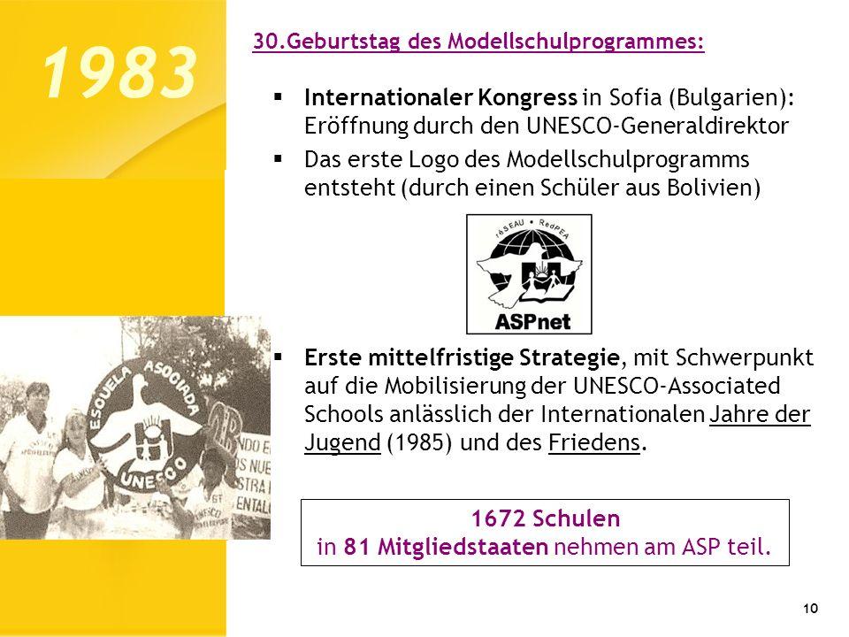 in 81 Mitgliedstaaten nehmen am ASP teil.