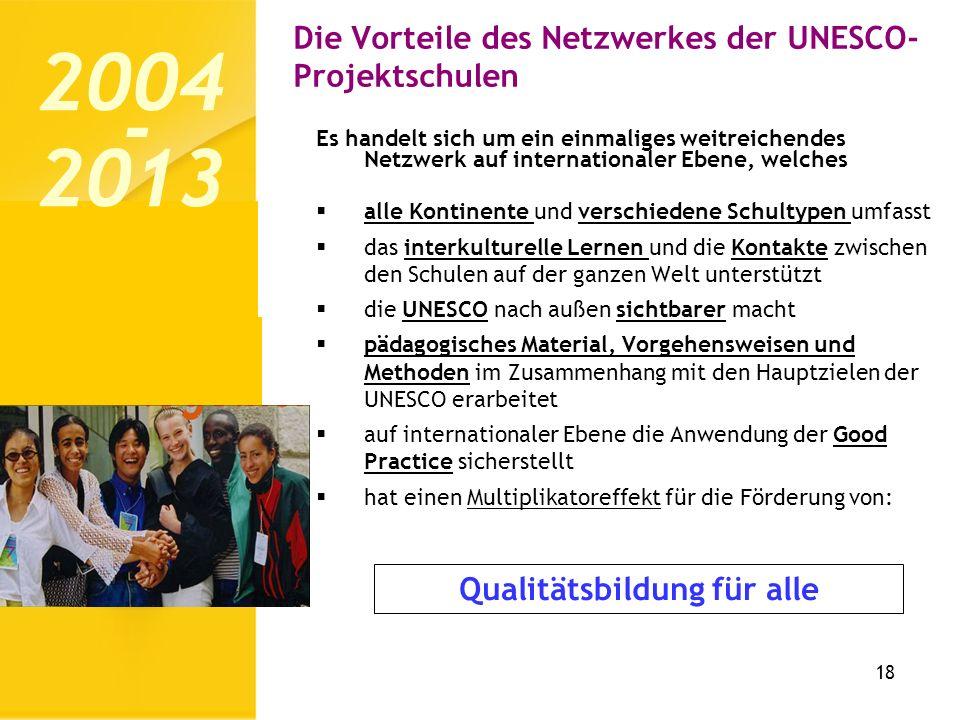 Die Vorteile des Netzwerkes der UNESCO-Projektschulen