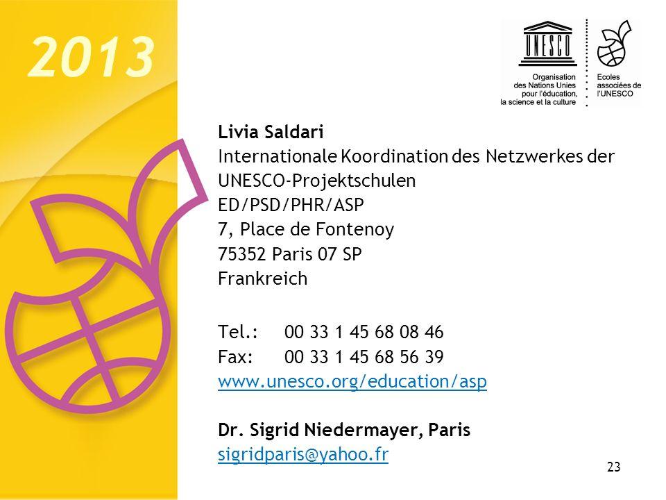 2013 Livia Saldari Internationale Koordination des Netzwerkes der