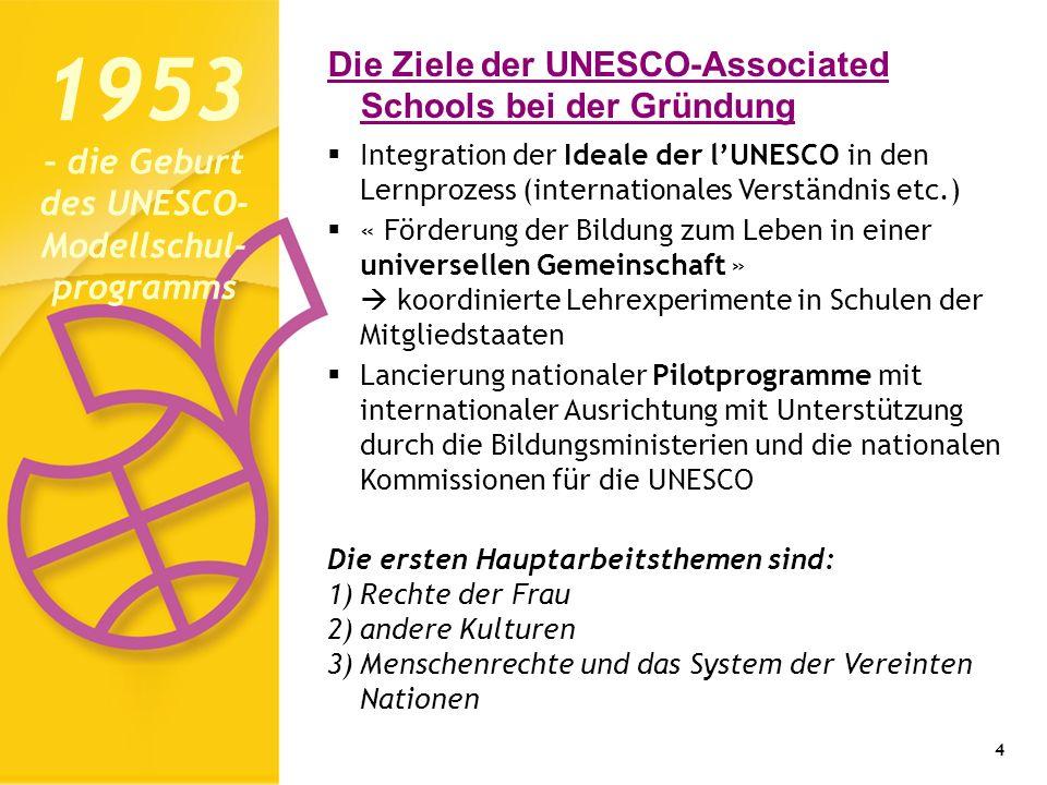 1953 – die Geburt des UNESCO-Modellschul-programms