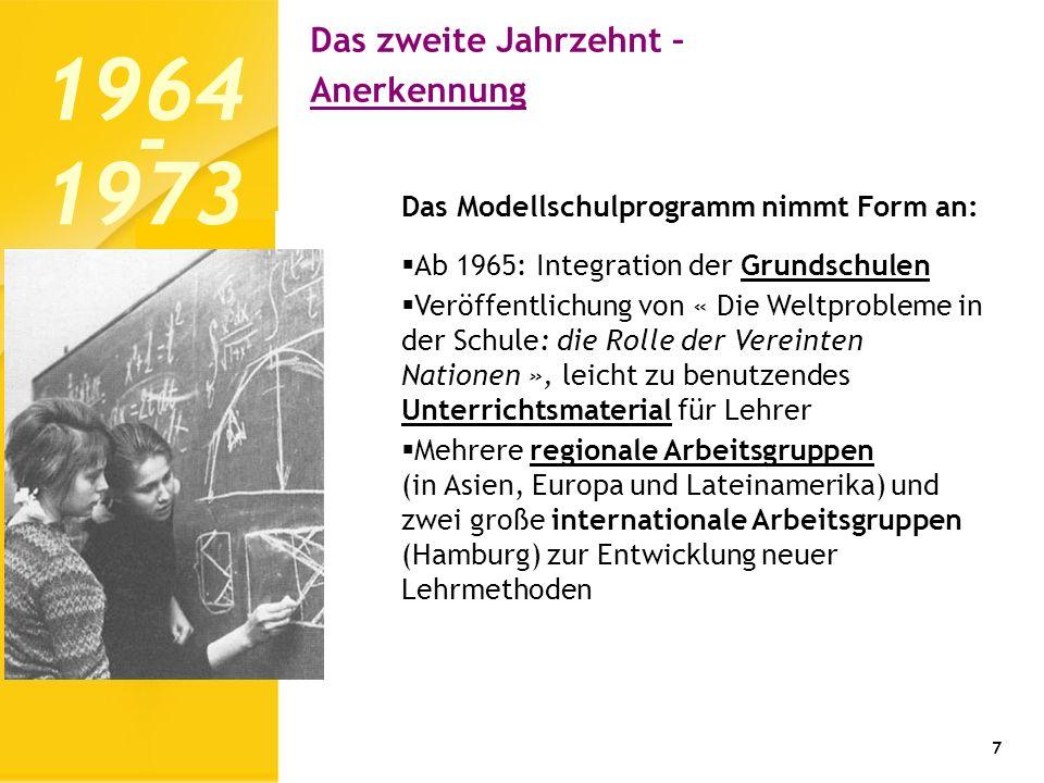 1964 1973 - Das zweite Jahrzehnt – Anerkennung