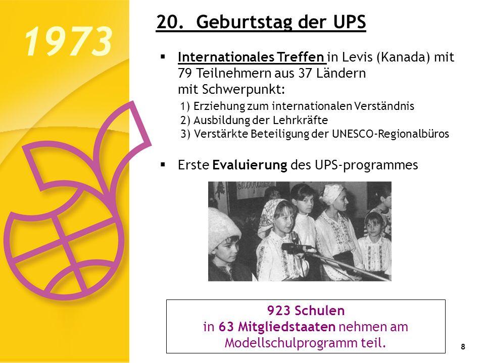 in 63 Mitgliedstaaten nehmen am Modellschulprogramm teil.