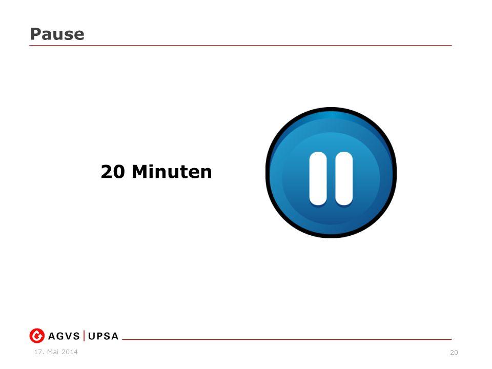 Pause 20 Minuten
