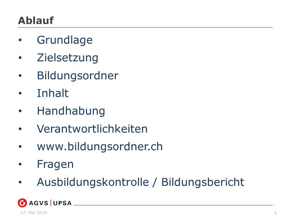 Verantwortlichkeiten www.bildungsordner.ch Fragen