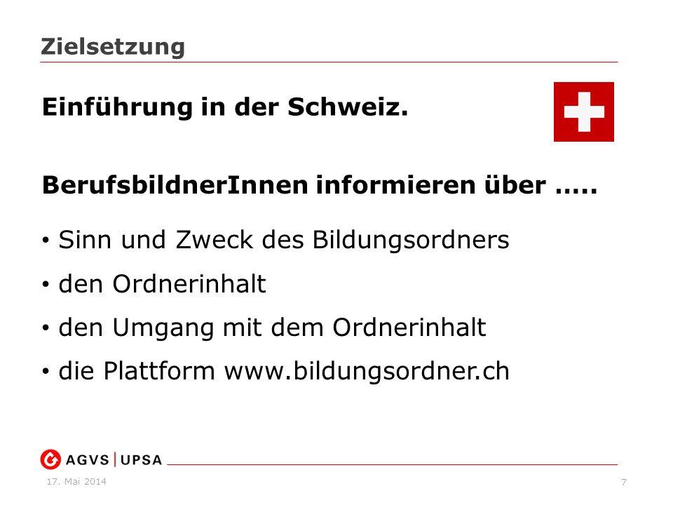 Einführung in der Schweiz.
