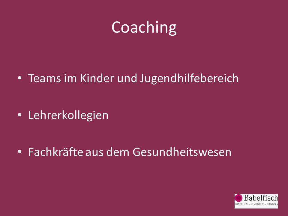Coaching Teams im Kinder und Jugendhilfebereich Lehrerkollegien