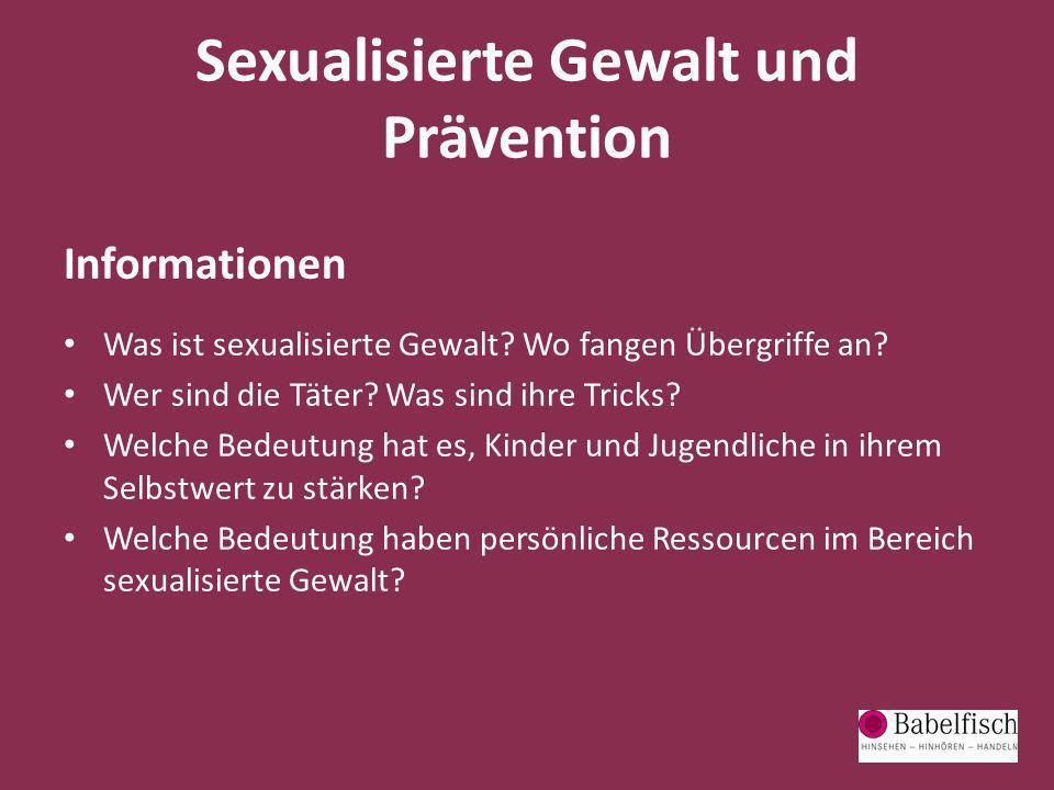 Sexualisierte Gewalt und Prävention