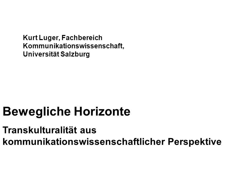 Kurt Luger, Fachbereich Kommunikationswissenschaft