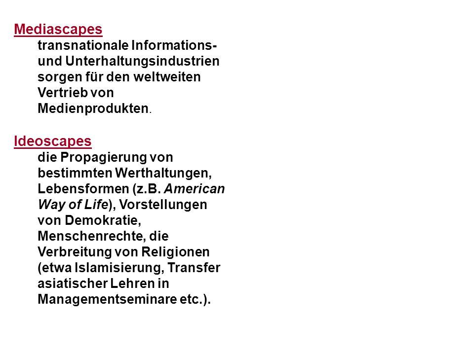 Mediascapes Ideoscapes