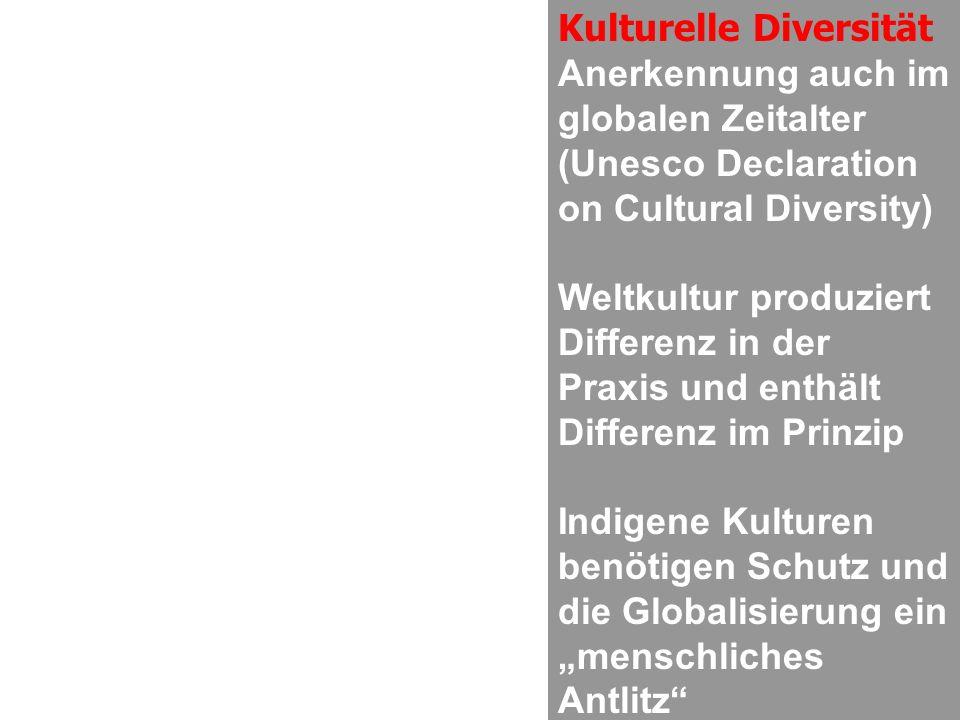 Kulturelle Diversität Anerkennung auch im globalen Zeitalter