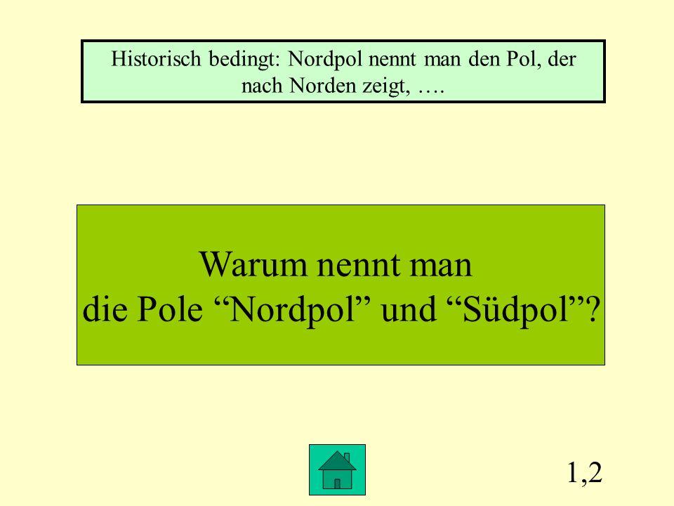 die Pole Nordpol und Südpol