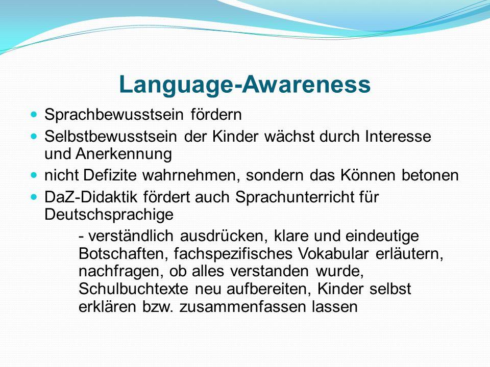 Language-Awareness Sprachbewusstsein fördern