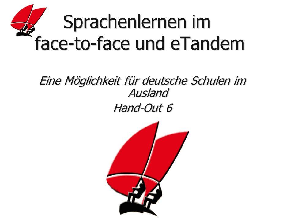 Sprachenlernen im face-to-face und eTandem