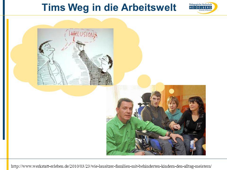 Tims Weg in die Arbeitswelt