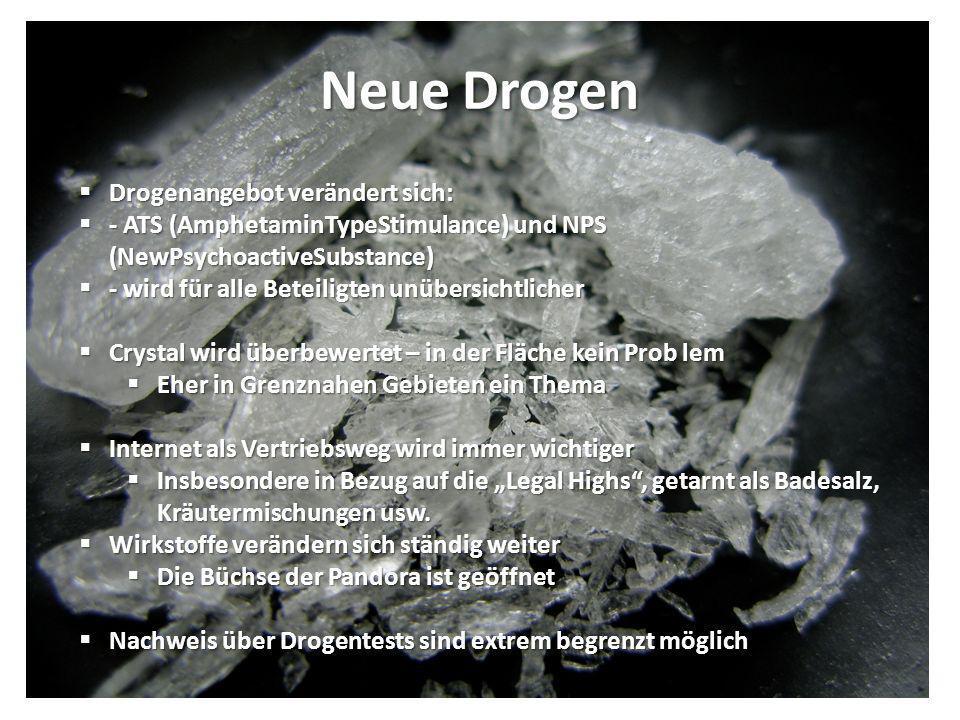 Neue Drogen Drogenangebot verändert sich: