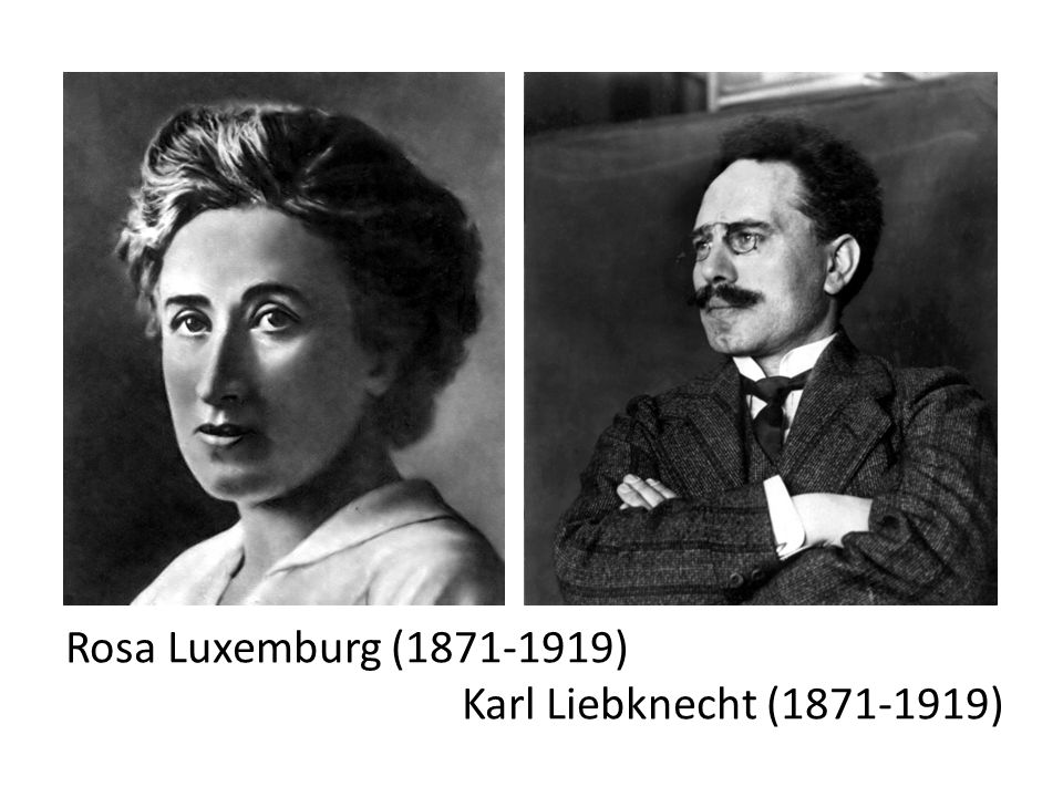 Rosa Luxemburg (1871-1919) Karl Liebknecht (1871-1919)