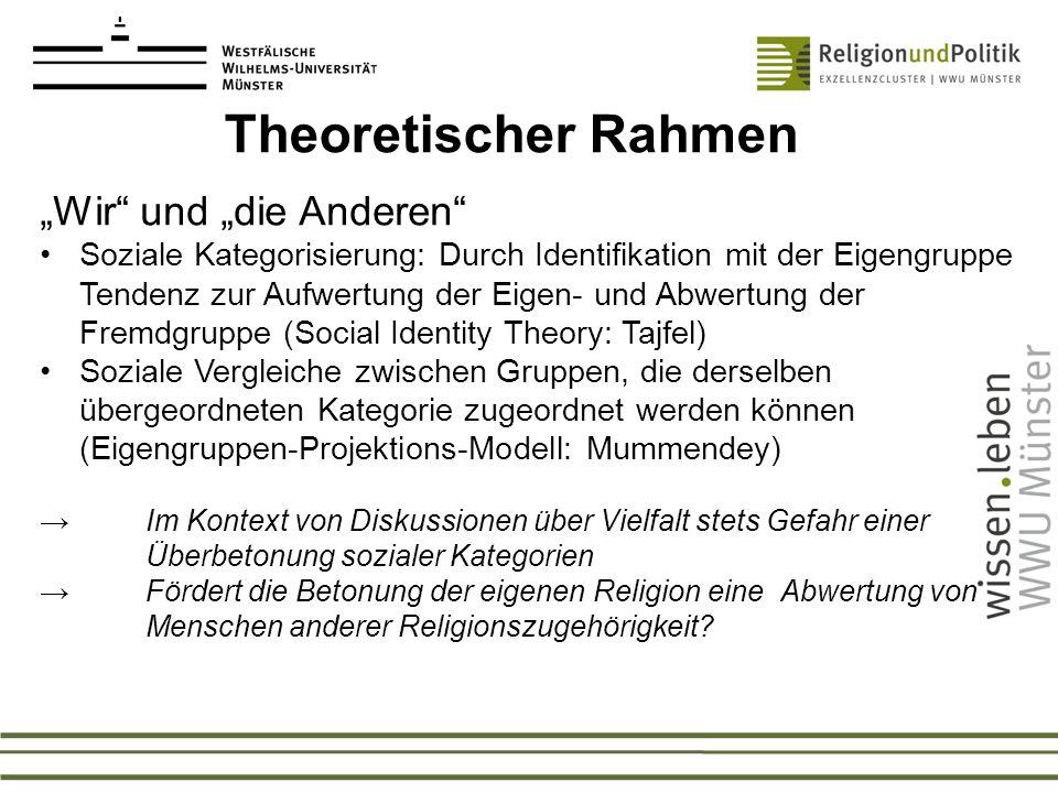 """Theoretischer Rahmen """"Wir und """"die Anderen"""