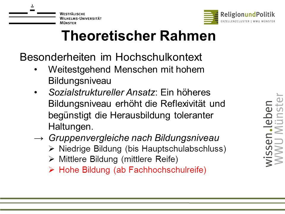 Theoretischer Rahmen Besonderheiten im Hochschulkontext