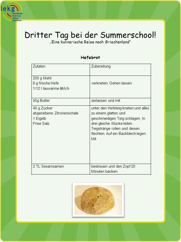 Dritter Tag bei der Summerschool