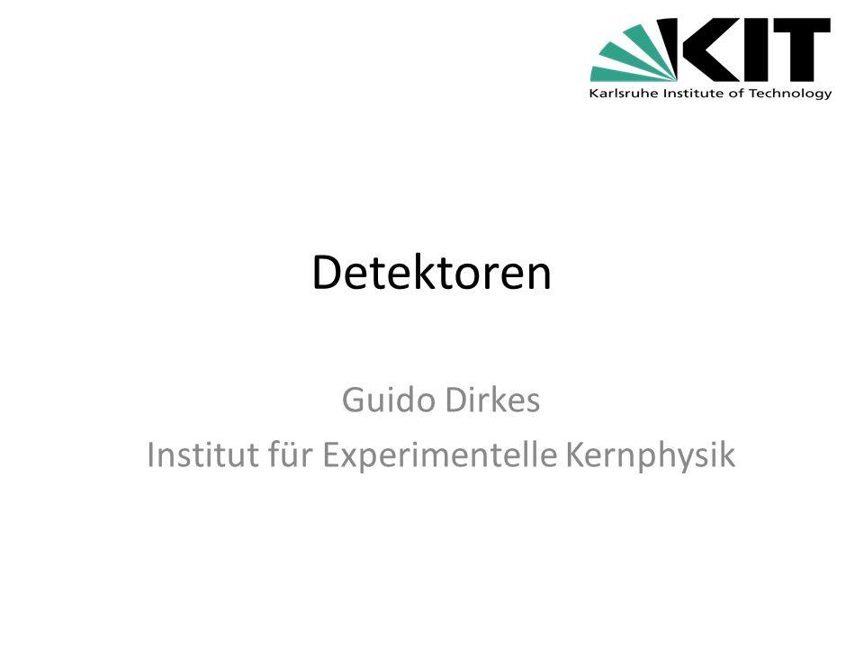 Guido Dirkes Institut für Experimentelle Kernphysik