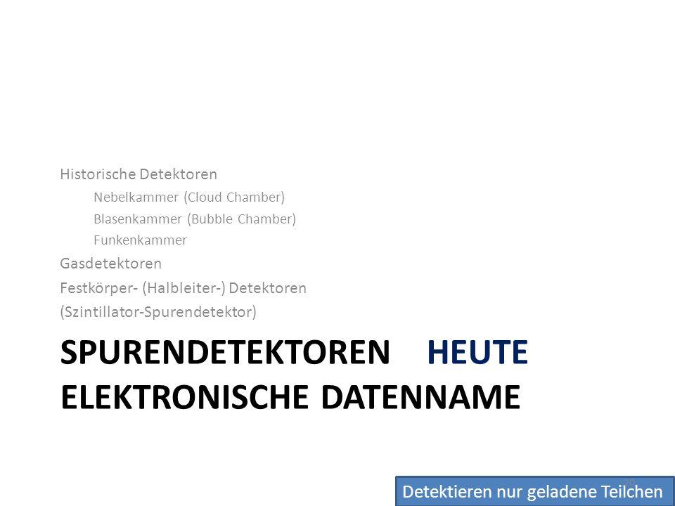 Spurendetektoren HEUTE Elektronische Datenname