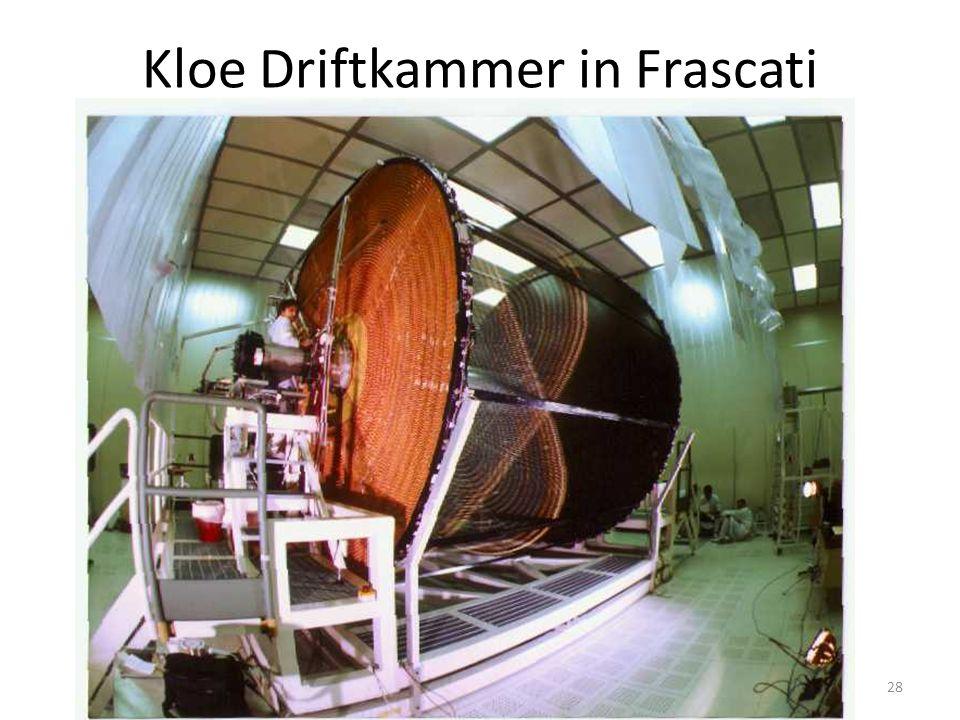 Kloe Driftkammer in Frascati