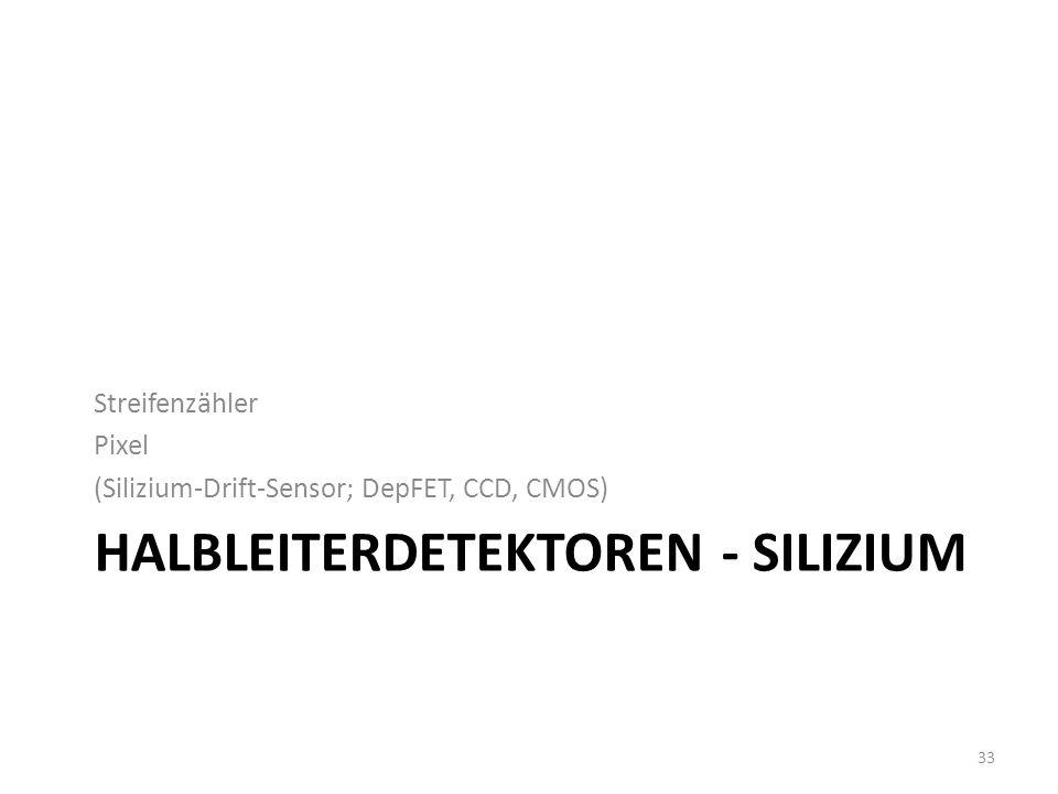 Halbleiterdetektoren - Silizium