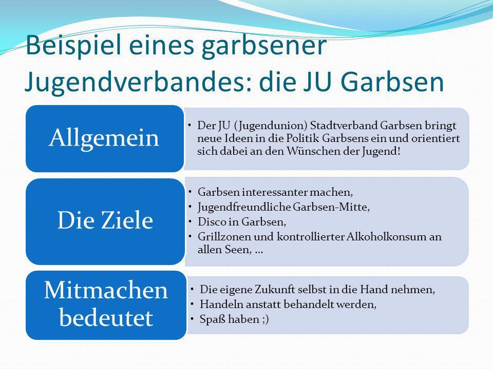 Beispiel eines garbsener Jugendverbandes: die JU Garbsen