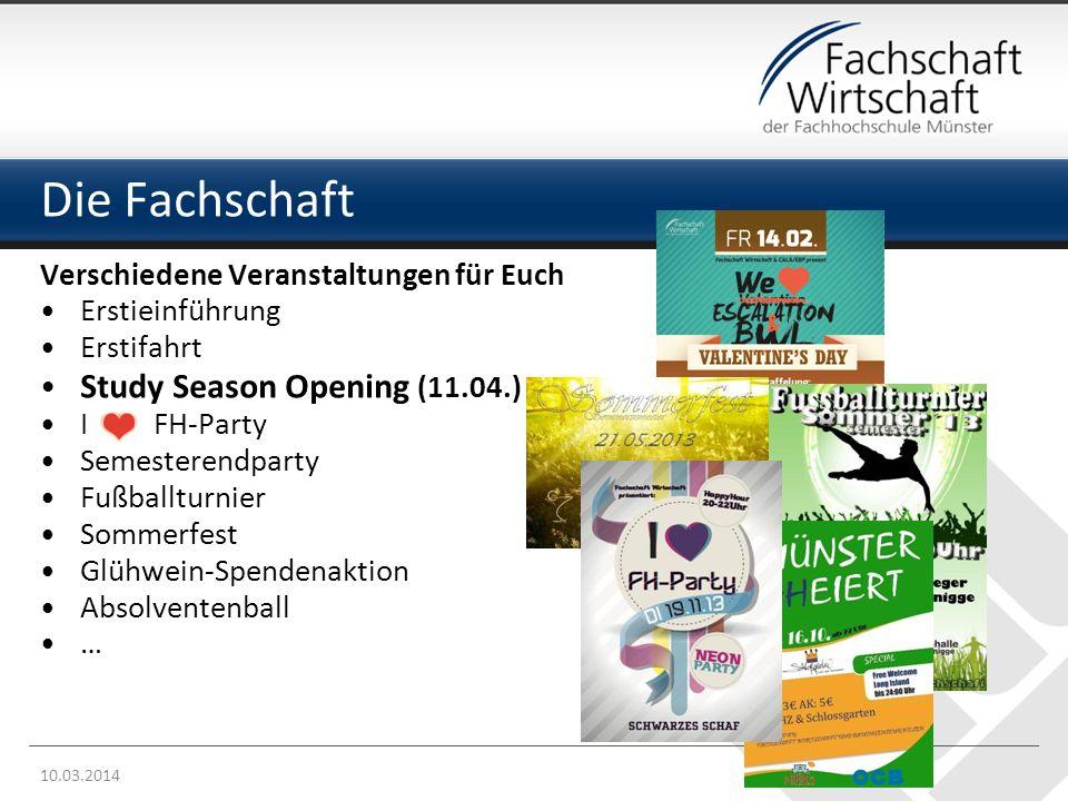 Die Fachschaft Study Season Opening (11.04.)