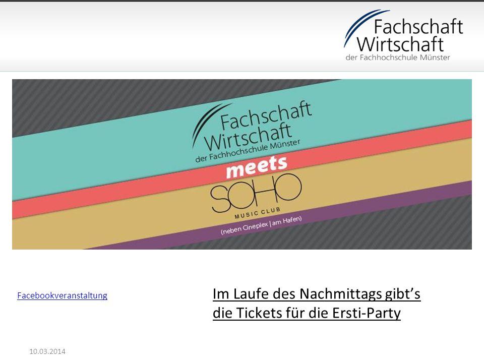 Im Laufe des Nachmittags gibt's die Tickets für die Ersti-Party