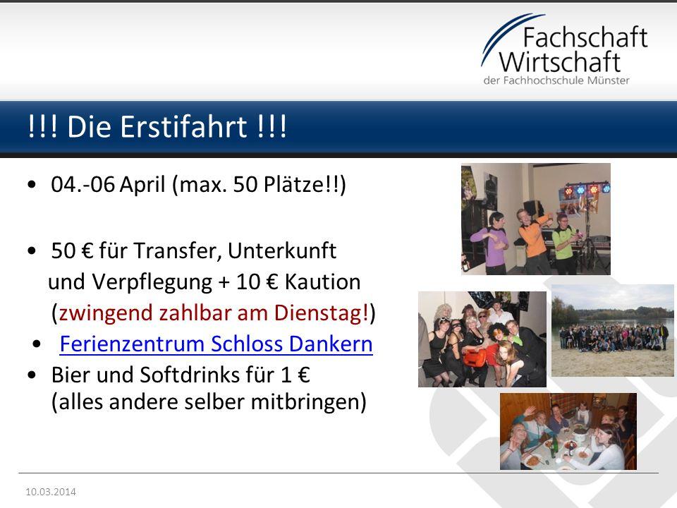 !!! Die Erstifahrt !!! 04.-06 April (max. 50 Plätze!!)