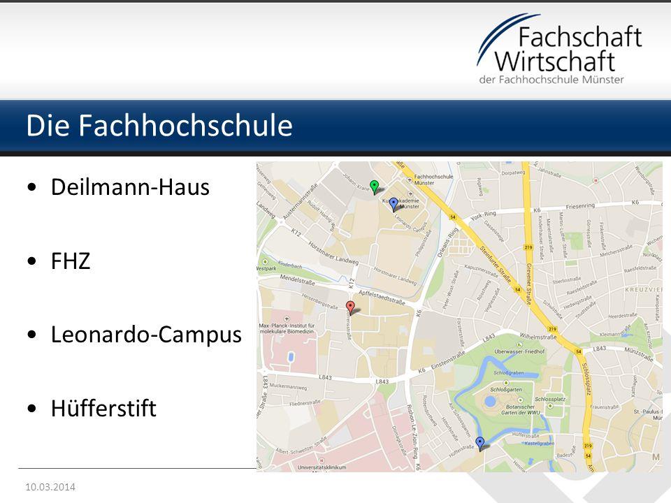 Die Fachhochschule Deilmann-Haus FHZ Leonardo-Campus Hüfferstift