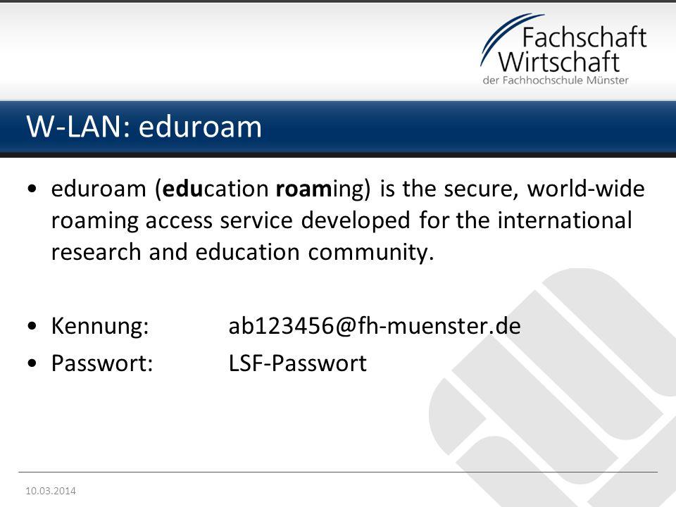W-LAN: eduroam