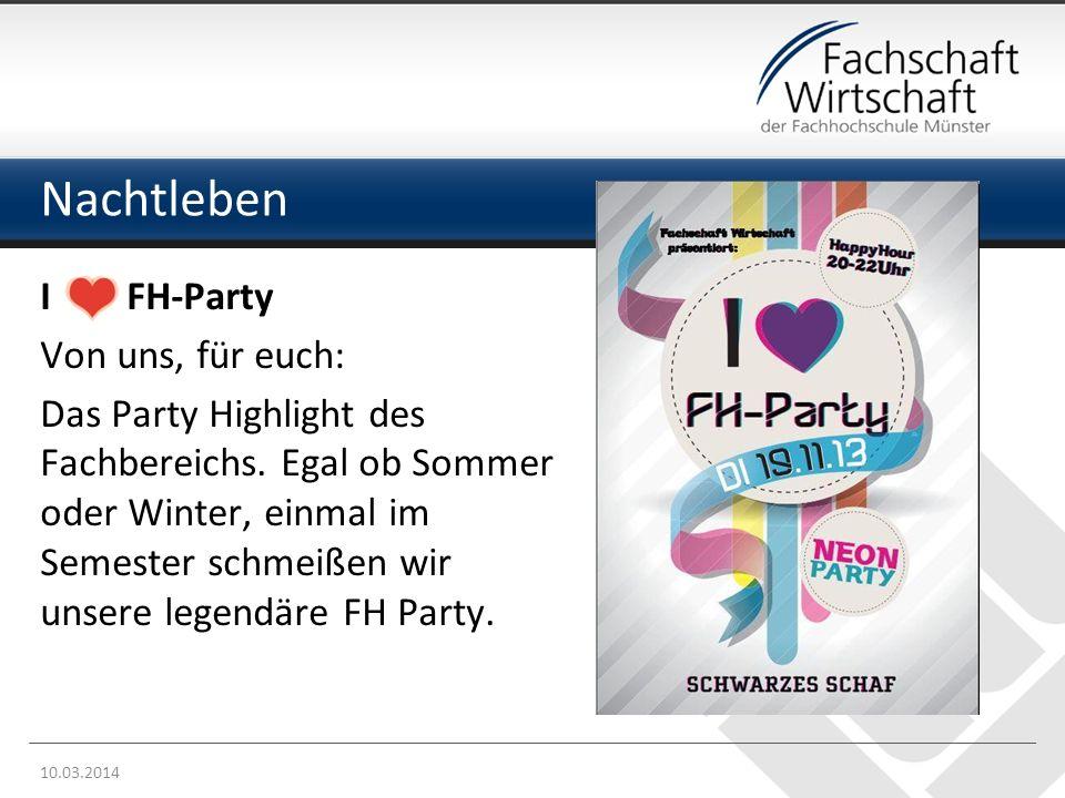 Nachtleben I FH-Party Von uns, für euch: