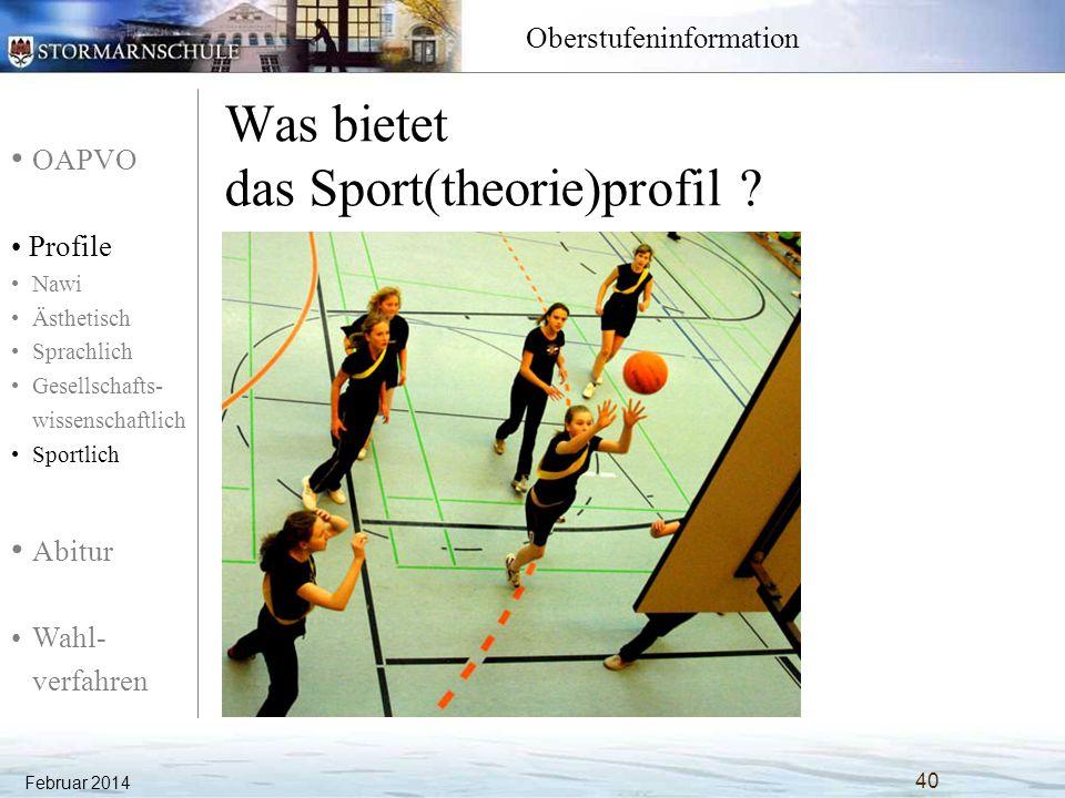 Was bietet das Sport(theorie)profil