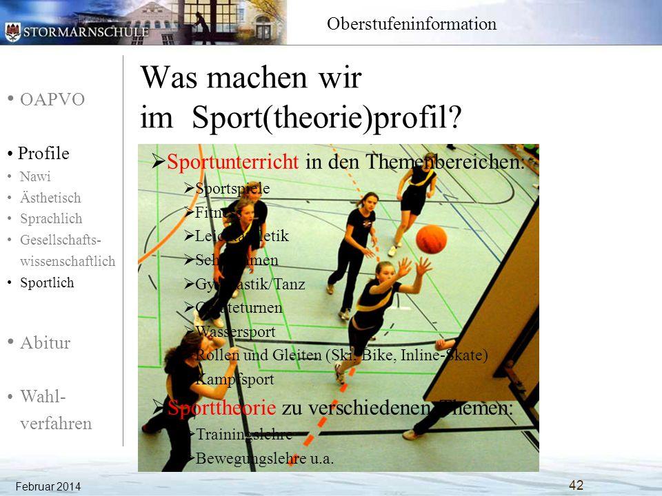Was machen wir im Sport(theorie)profil