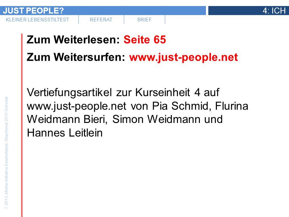 Zum Weiterlesen: Seite 65 Zum Weitersurfen: www. just-people