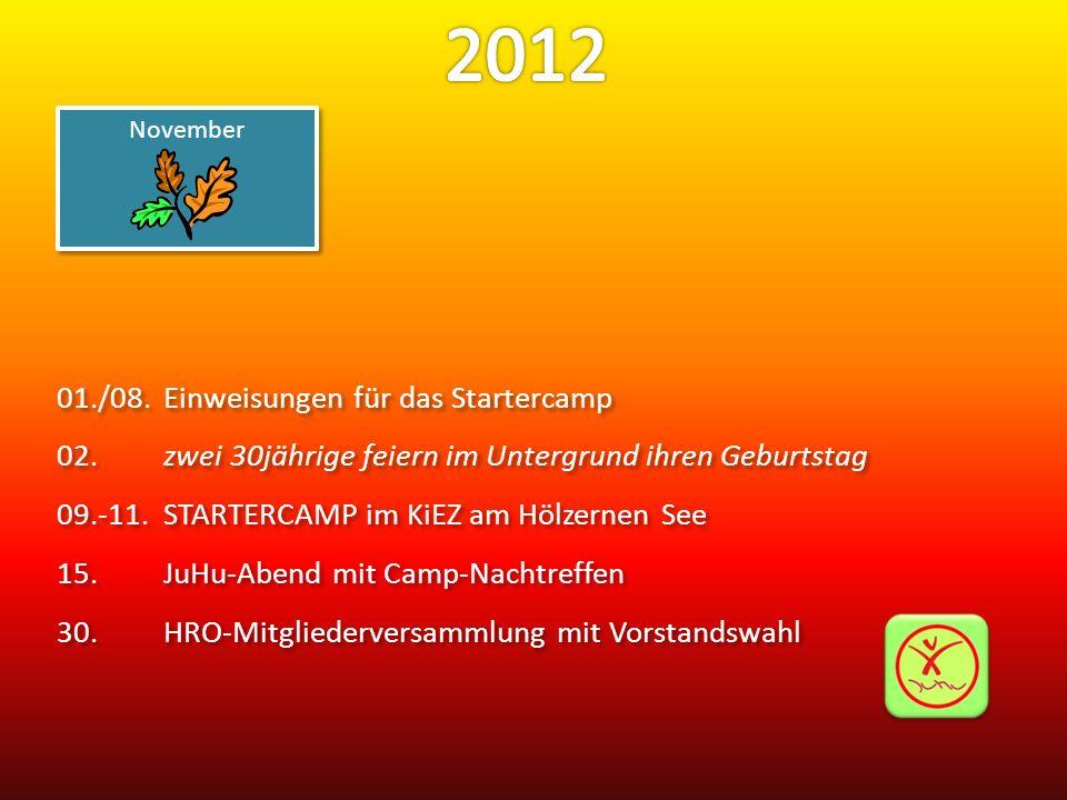 2012 01./08. Einweisungen für das Startercamp